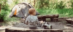 camping with your baby on campsite