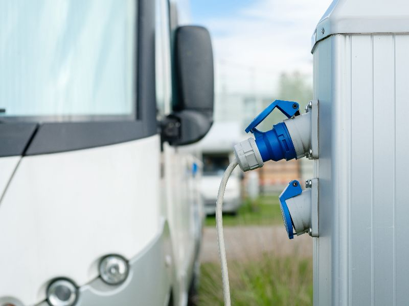 When booking your camping pitch, think about how much electricity you are going to use during your camping holiday.