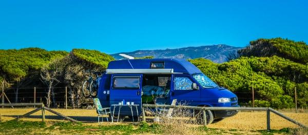The Volkswagen camper