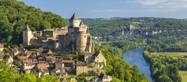 Kayaking on the river Dordogne