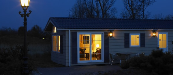 At night in a bungalow