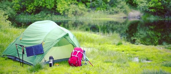 solar panels tent