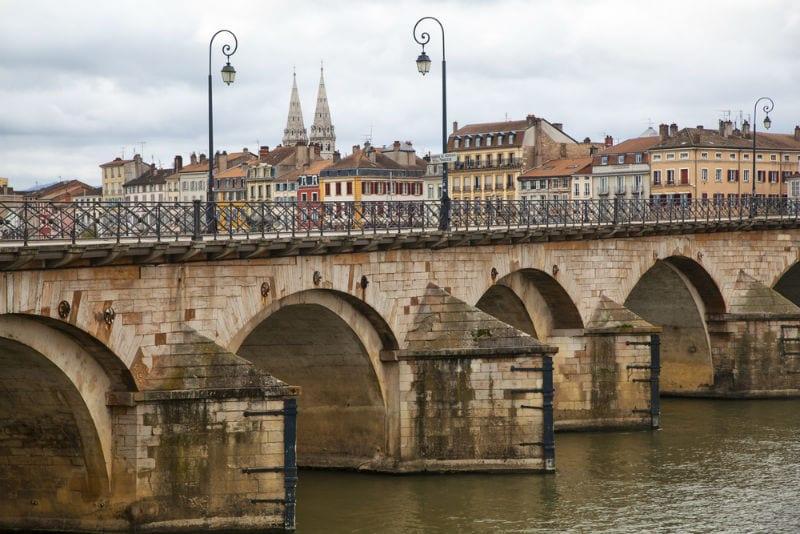 The 11th-century Saint-Laurent Bridge in Mâcon.
