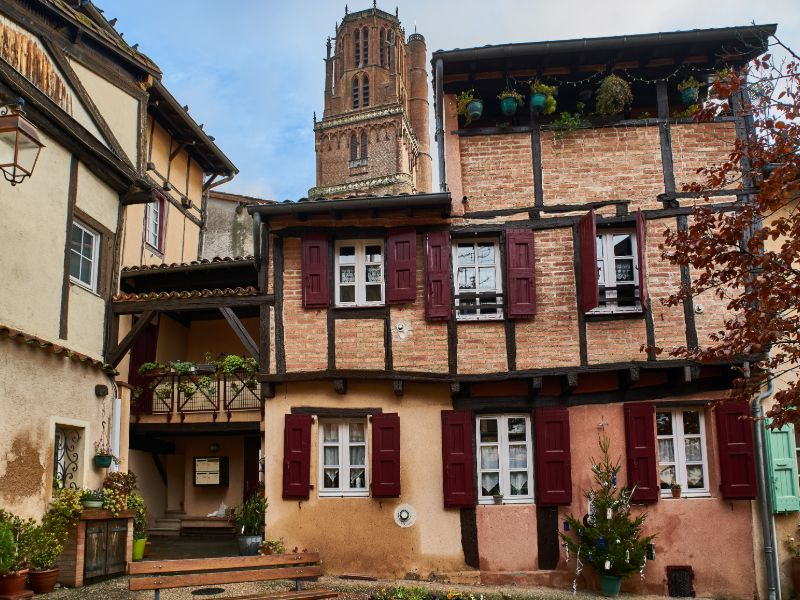 One of the many old houses in Albi.