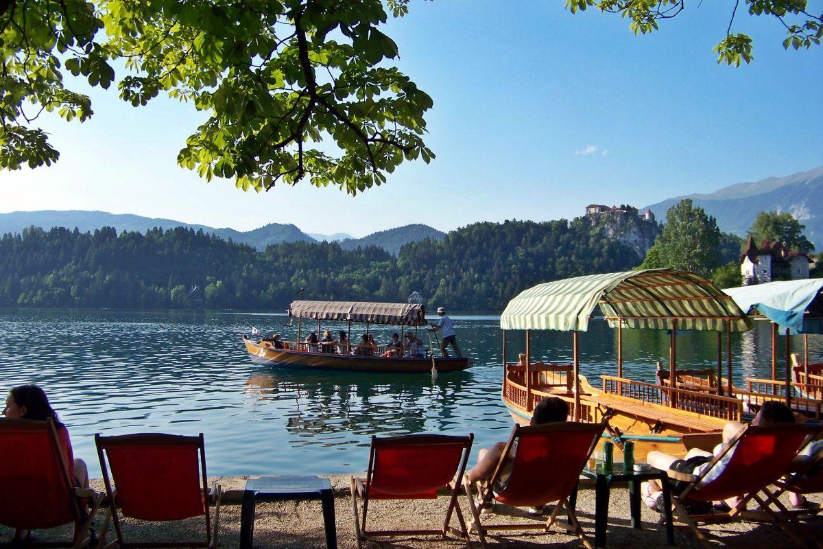 Varen op het meer van Bled