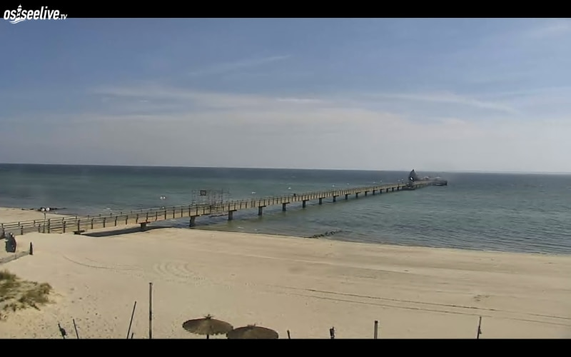 View of the German side of the Baltic Sea.