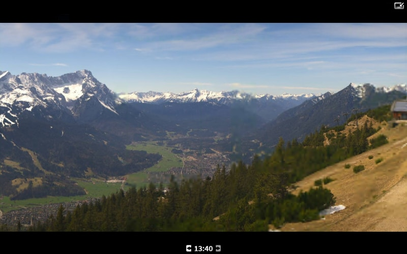 View from the Zugspitze.