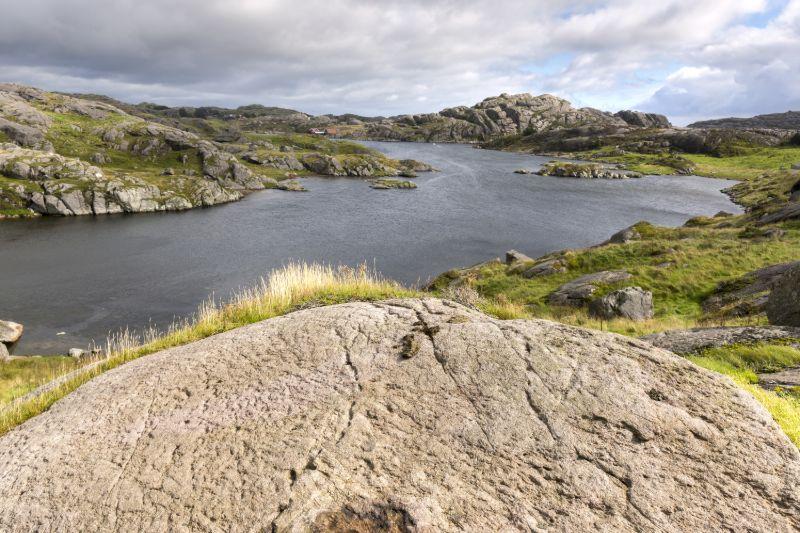 The rocky coast at Egersund