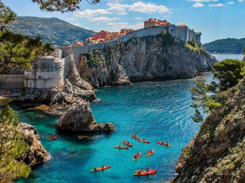 Kayaking around Dubrovnik is fun to do!